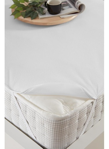 Decovilla  160x200 Pamuklu Köşe Lastik Sıvı Geçirmez Yatak Koruyucu Alez Beyaz